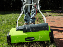 Become your own landscaper with the $85 Greenworks 14-inch Corded Dethatcher