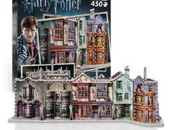 Build a model of Diagon Alley with this 3D Harry Potter puzzle for $22