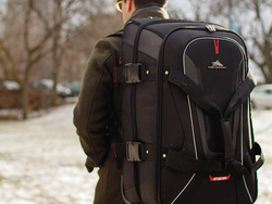 Be prepared on your travels with High Sierra's $93 Rolling Upright Duffel Bag