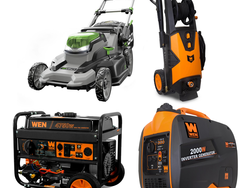 Save up to 30% off select generators, mowers and pressure washers today only