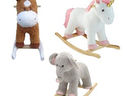 Pick up a Home Accents Holiday rocking horse, unicorn, or elephant for only $20
