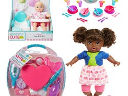 Fill your toy drive's donation box with 50% off Honestly Cute dolls, playsets, and more