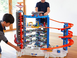 Park over 140 Hot Wheels cars in the $100 Super Ultimate Garage Play Set