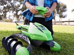 The $18 Hot Wheels RC Terrain Twister Vehicle travels on land, snow, grass, and water
