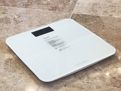 This sleek digital bathroom scale is only $12 in both white and black
