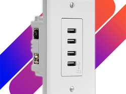 Replace your standard AC outlets with Insignia's 4-port USB outlet for just $12