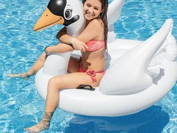 Float around on this $12 Intex Swan Inflatable all summer