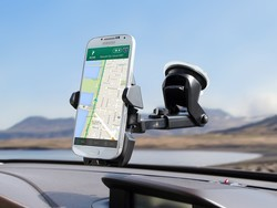 Adhere the iOttie One Touch 2 car mount to your dash or windshield for its best ever price