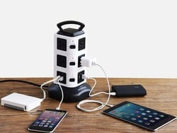 Top up your devices with this $18 Jackyled 10-Outlet Power Strip Tower