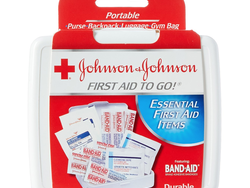 This $1 First Aid travel kit comes with 12 useful items to patch up small cuts