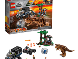 Recreate Jurassic World scenes with this discounted Lego Carnotaurus Gyrosphere Escape set