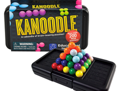 The brain-teasing $7 Kanoodle game offers over 200 puzzles to think through