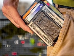 Slim down your daily carry with a minimalist leather wallet for only $8