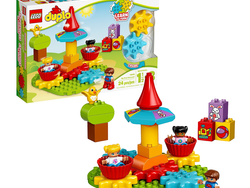 Toddlers can play with the $14 Lego Duplo My First Carousel set