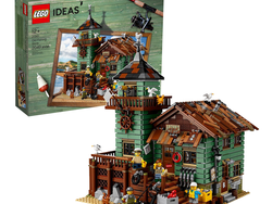 Anglers young and old can build the discounted Lego Ideas Old Fishing Store together