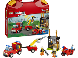 This $13 Lego Juniors Fire Patrol Suitcase is prepared for playtime on-the-go