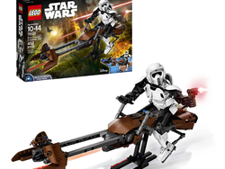 This Lego Star Wars Scout Trooper and Speeder Bike set is down to $28