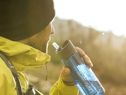 Filter clean drinking water from streams and other sources with two LifeStraw Go Water Bottles for $56