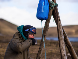 Drink safely from lakes and streams with LifeStraw's 12L Mission Water Purification System for $84