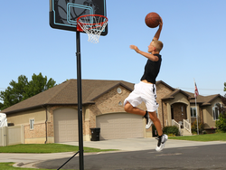 Ballers of all sizes can play on Lifetime's $77 Adjustable Portable Basketball Hoop
