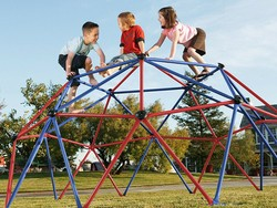 Turn your yard into a playground with the $137 Lifetime geometric dome climber