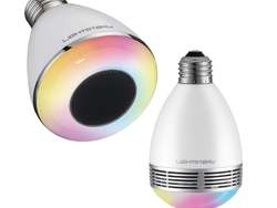 Use your phone to control these Bluetooth-enabled LightStory Multicolor Light Bulb Speakers from $13