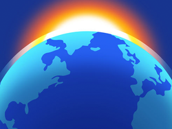 Explore the globe via your iOS device with the $2 Living Earth Clock & Weather app