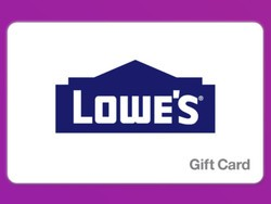 Save on your next Lowe's shopping trip with this $150 gift card for only $135