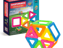 Kids as young as three can begin building with this $14 Magformers Neon Set