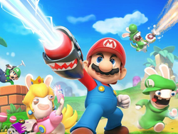 Play with Mario and the Rabbids in Kingdom Battle on Nintendo Switch for $30