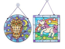 Enjoy a rainy day with this $14 Melissa & Doug Stained Glass Activity Set