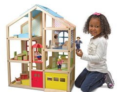 Make playtime even more fun with the $90 Melissa & Doug Hi-Rise Wooden Dollhouse set