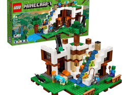 Minecraft gamers can test their build skills with this $39 Lego Waterfall Base set
