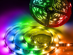 Minger's discounted DreamColor LED light strip changes to fit the music automatically