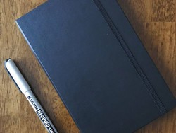 Jot down your thoughts in this $12 Moleskine Classic Hardcover Notebook