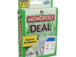 Play a short game on-the-go with the $3 Monopoly Deal card game