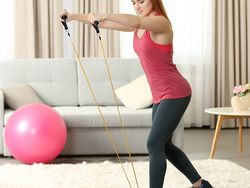 Add this resistance band set to your daily workout for just $16