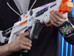 Start a battle using this $15 Nerf Laser Ops Burst Fire Combat Blaster