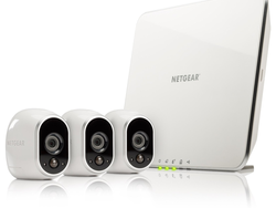 Netgear's Arlo home security system comes with three weatherproof and wireless HD cameras for £250