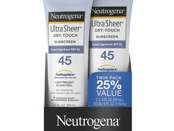 Stay safe this summer with a 2-pack of Neutrogena dry-touch SPF 45 sunscreen for $11