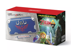 Pre-order the GameStop-exclusive Hylian Shield edition of the New Nintendo 2DS XL