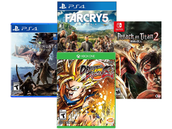 Recent games like Far Cry 5 and Monster Hunter World are down to $36 today