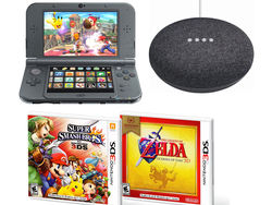 Smash Bros, Zelda, and a Google Home Mini are included in this $190 New Nintendo 3DS XL bundle