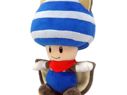 Show off your Nintendo love with this $11 Flying Squirrel Blue Toad Plush