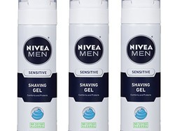 Step up your morning routine with a 3-pack of Nivea Men's Sensitive shaving gel for $7