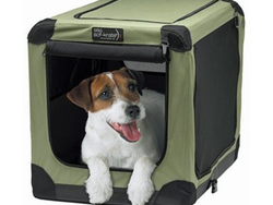 Keep your pet comfy at home and on-the-go with this $42 Soft-Krater Crate