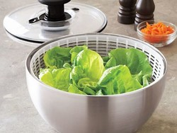 The $40 OXO Steel Salad Spinner is a dizzying good deal