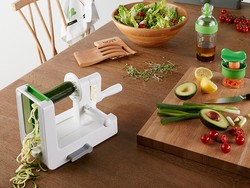 Dress up your veggies with the $28 OXO Good Grips 3-Blade Spiralizer