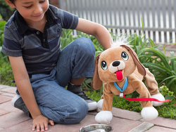 Kids can take the cuddly Peppy Pups Mutt on a walk for just $11