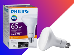Pick up this 8-pack of Philips LED Flood Lights for $27; just over $3 per bulb